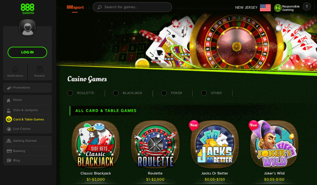 888casino game variations