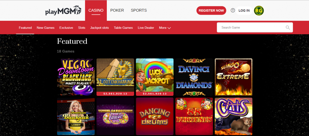 mgm online casino review - game variations