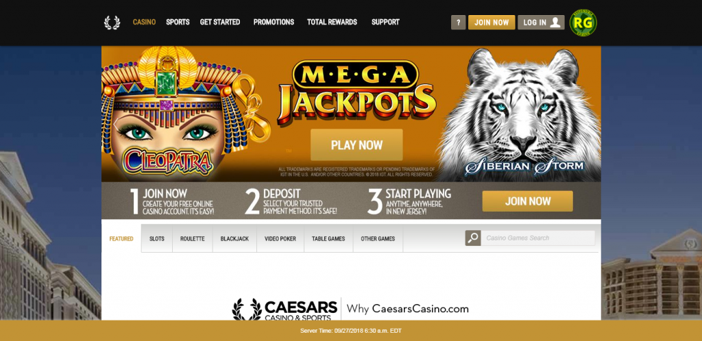 caesars online casino review - game variety