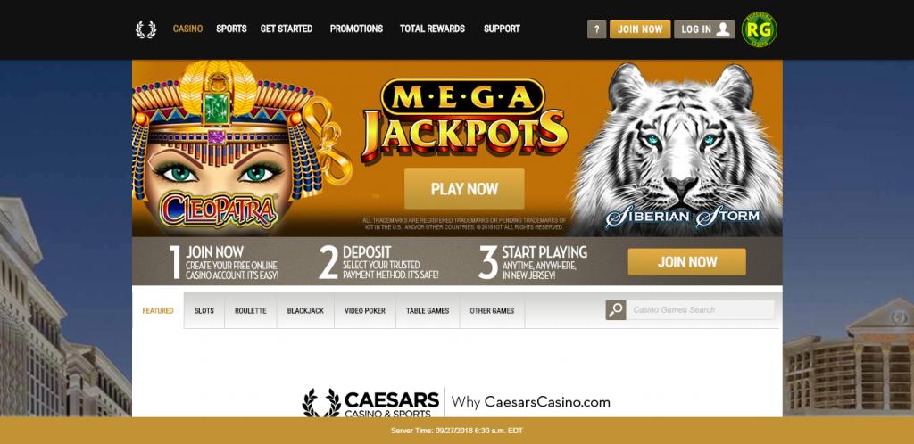 Обзор онлайн казино Caesars - разнообразие игр