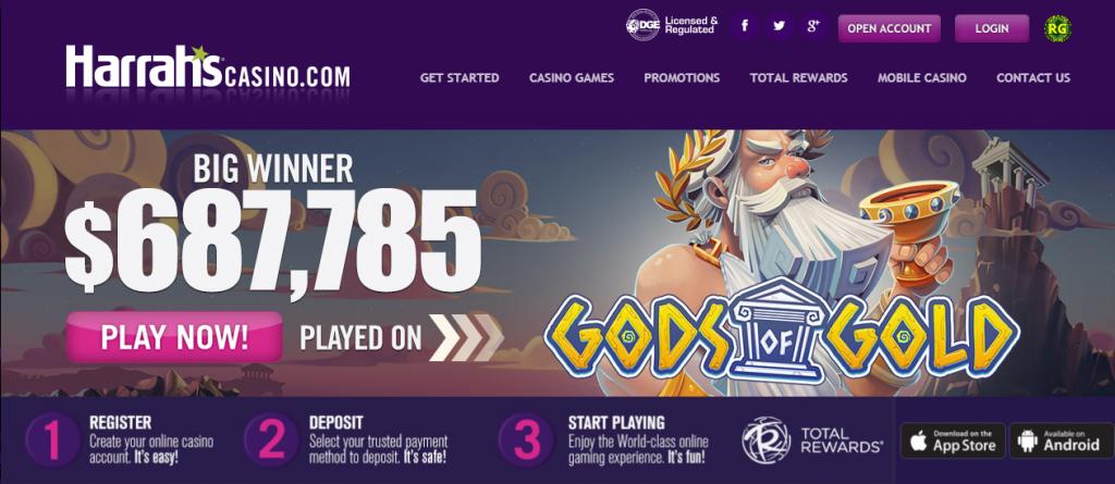 harrahs casino online review - bonuses