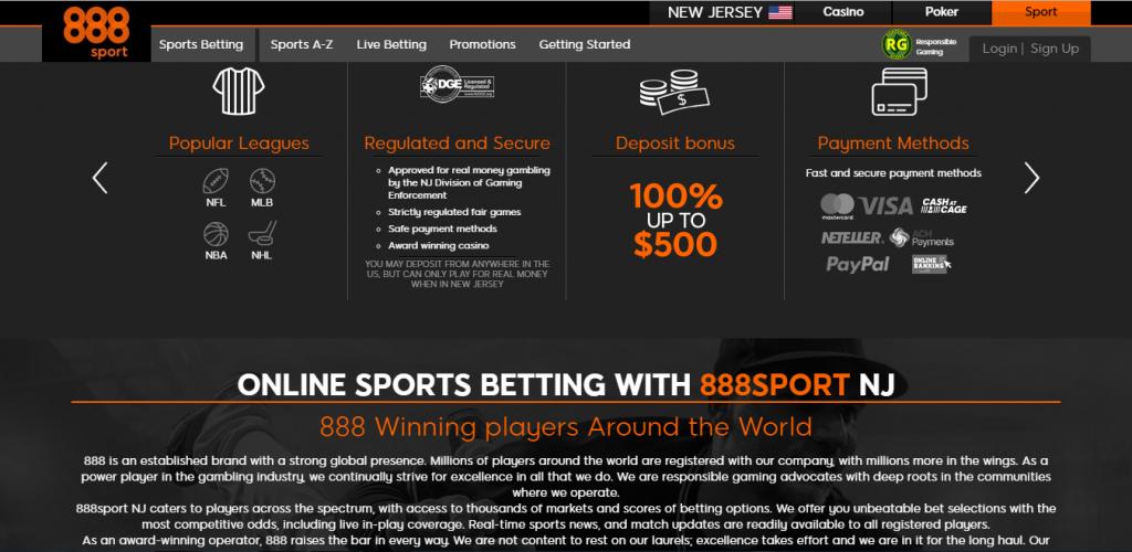 888 sportsbook NJ - bonuses
