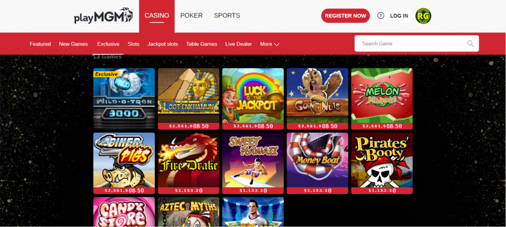 mgm online casino review - ease of use