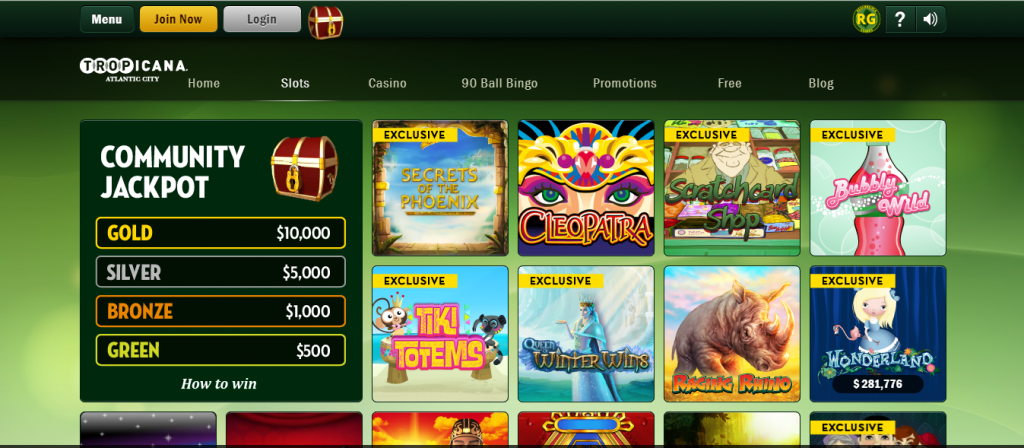 tropicana online casino review - bonuses