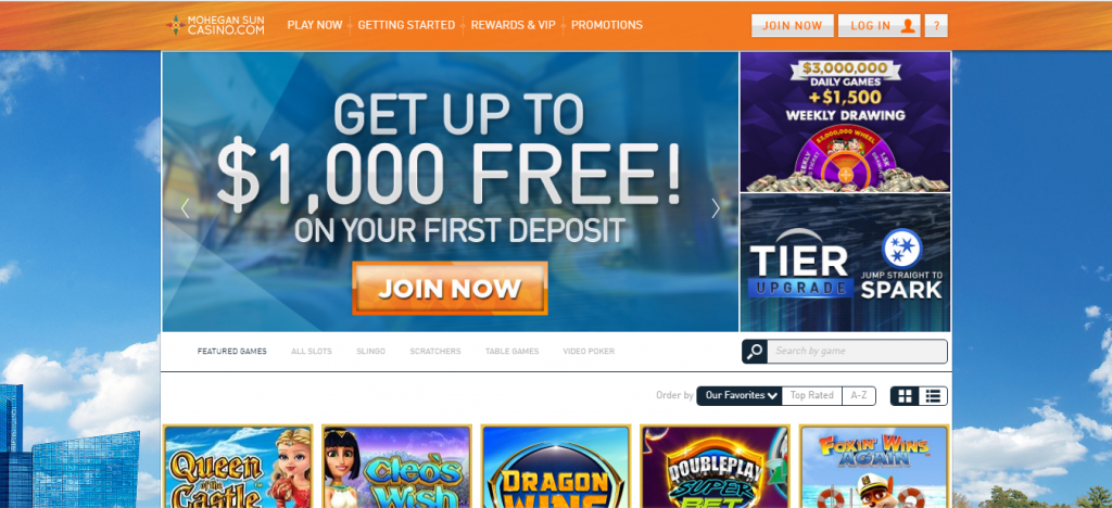 mohegan sun online casino review - game variety