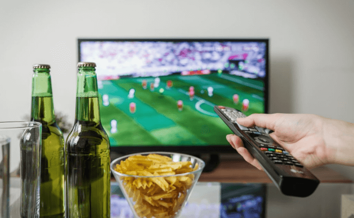 TV, beer and chips