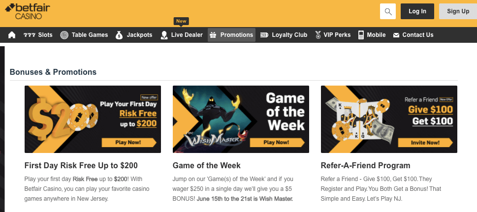 betfair online casino promotions