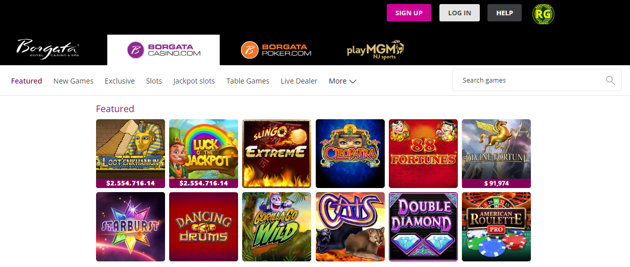 Borgata Online Casino Review Games