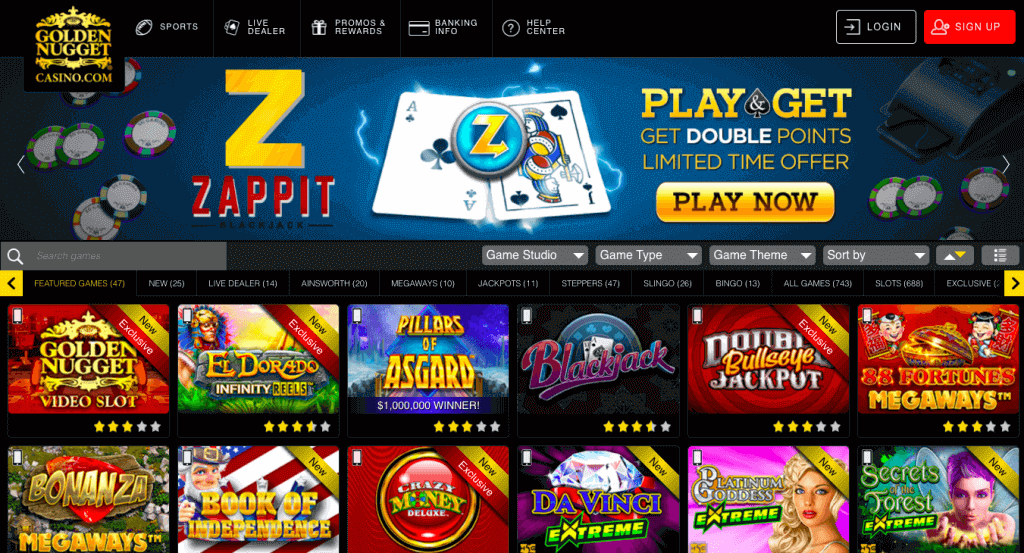 golden nugget review casino games