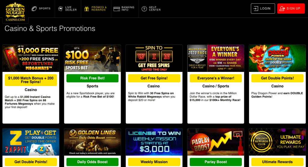 golden nugget review promotions