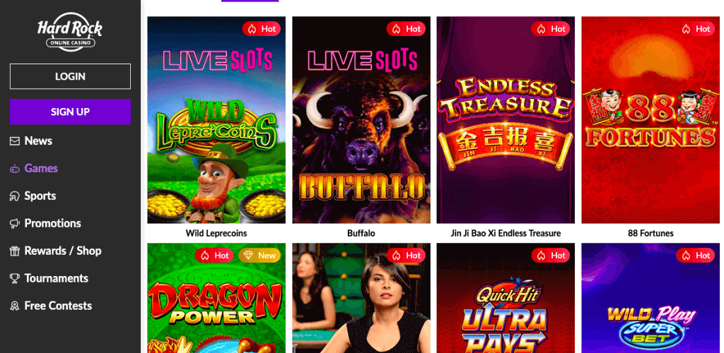 hard rock casino games