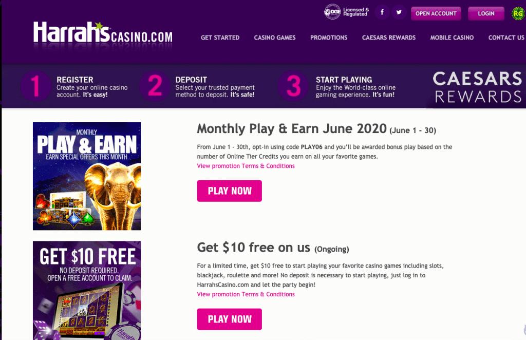 harrahs promotions njgames.org review
