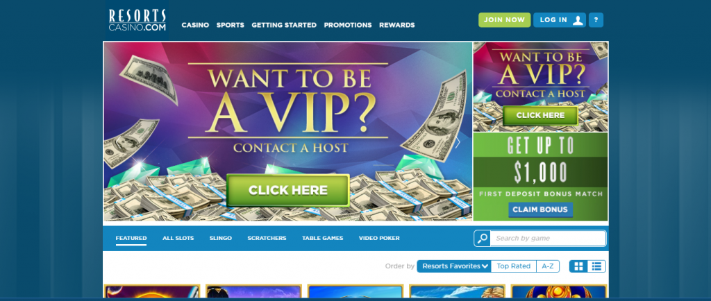 resorts online casino review - game variety