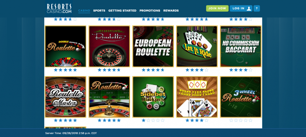 resorts online casino review - customer support
