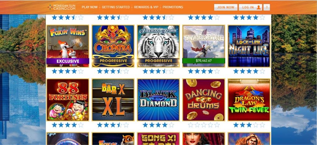 mohegan sun online casino review - bonuses