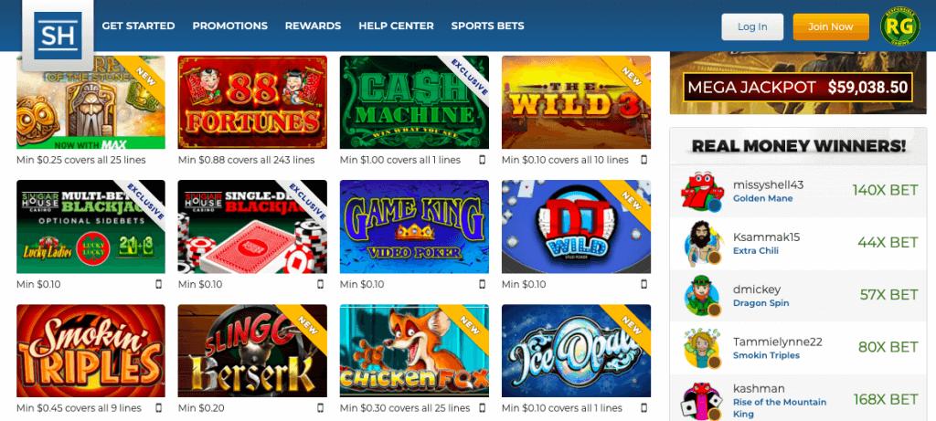 sugarhouse online casino games