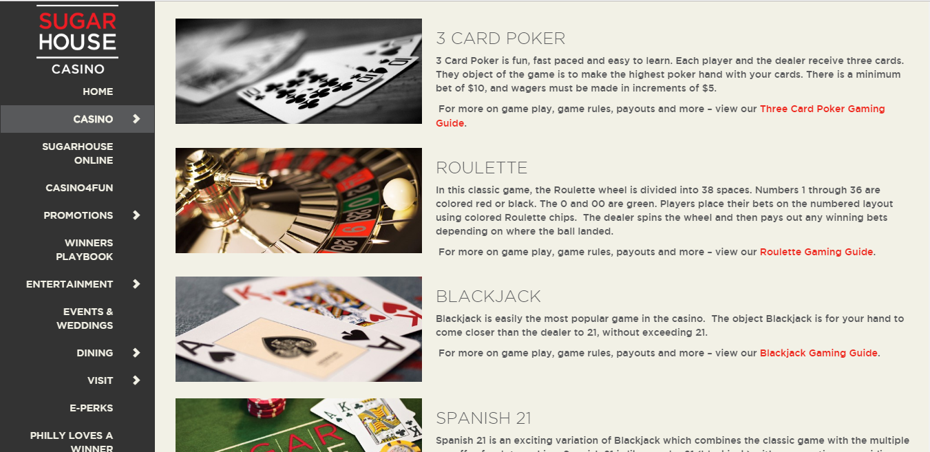 sugarhouse online casino review - ease of use