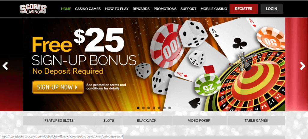 scores casino sign up bonus