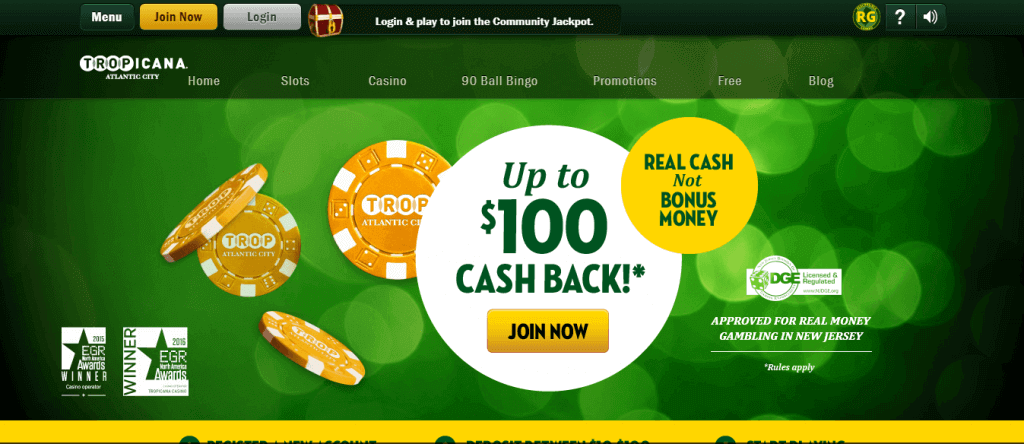 tropicana online casino review welcome offer