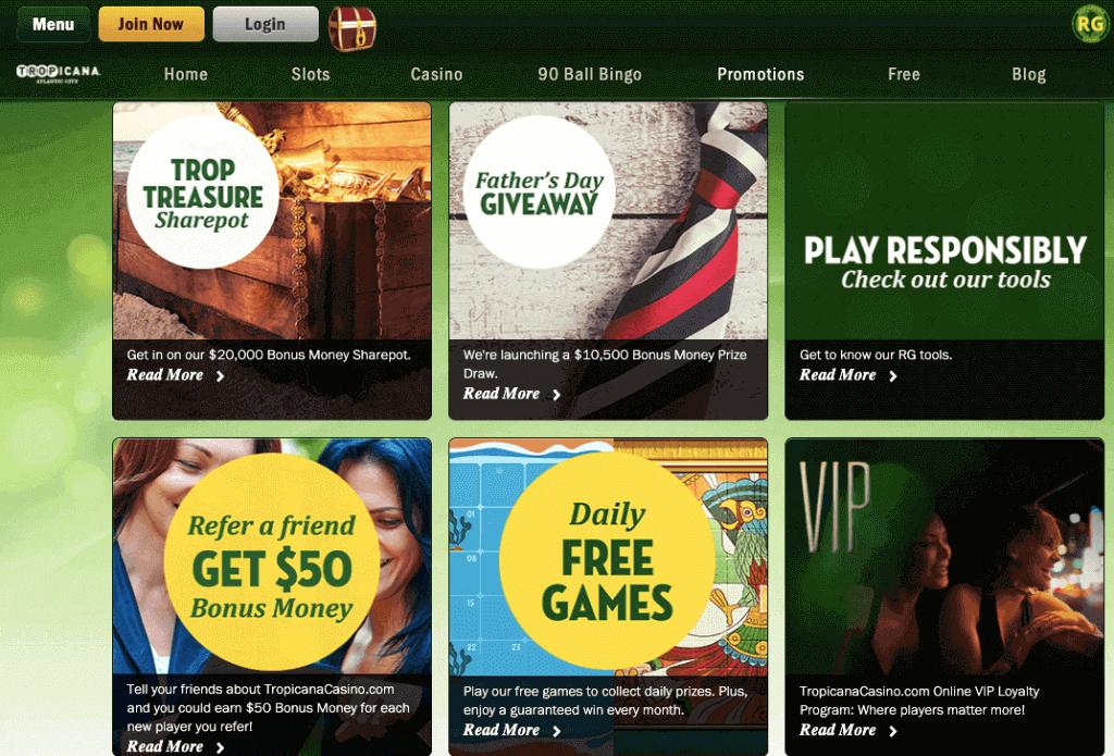 Tropicana online casino reviews