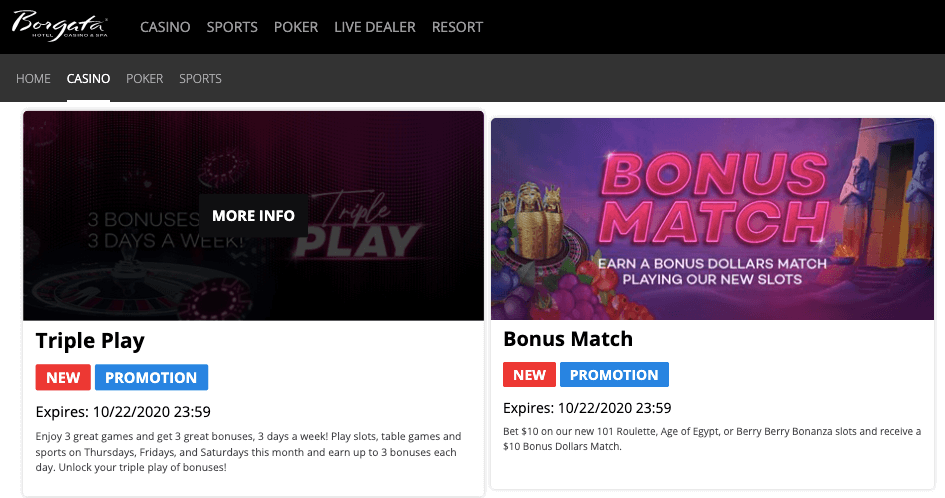 borgata online casino bonuses