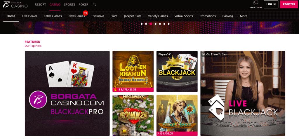 borgata online casino review nj games