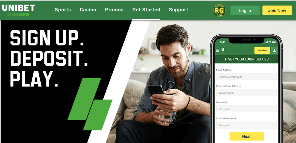 unibet review - sign up